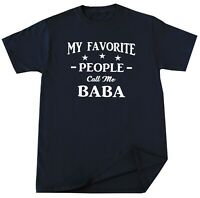 Baba Shirt Fathers Day Gift for Grandpa Dad Daddy Birthday Gift Funny