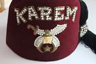 Vintage Shriners/Masonic Jeweled Hat Fez Karem with Tassel