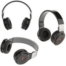 CUFFIE STEREO SENZA FILI SPORT MP3 RICARICABILE CON RADIO K740