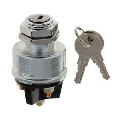 Universal Ignition Switch Lock Flush Mount 12V 2 Key 3 Position OFF-ON-Start