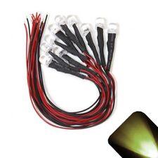 10 x Pre Wired 12v 10mm Warm Soft White LEDs Prewired 12 volt LED 11v 13v 14v 15