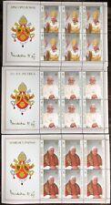 VATICANO 2005 3 FOGLIETTI SERIE COMPLETA PAPA BENEDETTO XVI