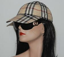 100% Authentic Burberry Nova Check Baseball Hat Cap Adjustable