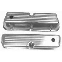 Racing Power R6172 Polished Aluminum Valve Covers For SB Ford NEW