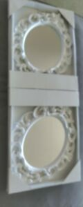 """Mirror Classic Vintage Design Small Decorative Framed Oval Wall Mounted 15x11.5"""""""