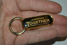 Nice Black & Gold EXCELLENCE Together Business Award Solid Key Chain