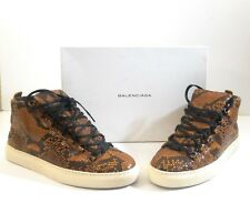 Balenciaga Pelle S.Gomm Veau Facon Python Men High Top Fashion Sneakers Size 44