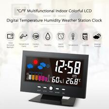 12/24Hr Digital Weather Station Thermometer Hygrometer Alarm Clock Temperature