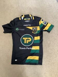northampton saints rugby shirt Macron Cup Games 2016 Season TP Player Fit L