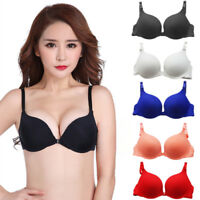 Women's Front Closure Bralette Push Up Bras 30-38 AA A B Cup Deep V Plunge Bra