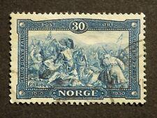 (1) used Norwegian stamp off paper Scott # 153