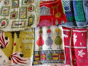 Vintage Women's Handkerchiefs Lot of 6 MID MOD Tammis Keefe  Billie Kompa GC