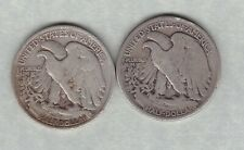 More details for two usa 1917 & 1935 silver half dollars in fair condition.