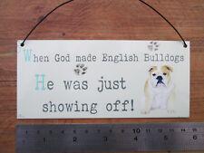 English bulldog,  metal hanging sign, decorative sign, metal plaque