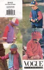 VOGUE Children's Hats & Coats Pattern 9142 Size 2-6X UNCUT