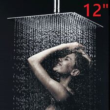 """Extra Large 12"""" Square Stainles Steel Chrome Water Rainfall Overhead Shower Head"""