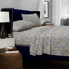King Size Sheet Set Cotton Paisley Island Print Multi Color Deep Pocket Oversize