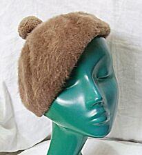 VINTAGE KANGOL HAT MUSHROOM BROWN SEMI STRUCTURE BERET WARM & CHIC