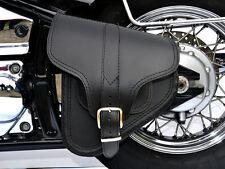(B4) Leather Swingarm Single Side Pannier Saddle Bag Harley-Davidson Softail