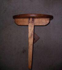 Antique Vintage Folding Wooden Pub Bar Tavern Hinged Wall Table