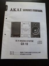 Original Service Manual AKAI QX-10