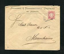 Bayern - 3 Kr. Brief von 1873. Frühe gedruckte Adresse  (#1088)