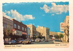 Postcard Klamath Falls Oregon Unposted Vintage Souvenir Downtown
