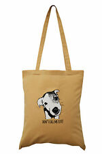 NUOVO Tote Bag: JACK Russell, beige, 100% COTONE