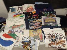 Music Band graphic vtg t Shirt Lot Of 17 Concert Punk Rock Metal Pop sz Large