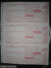 2013 IRS Tax Form 1099-PATR single sheet set for 3 recipients, carbonless 3-part
