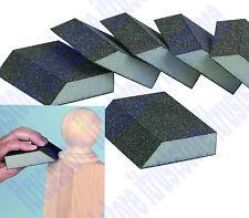 100/150 Grit Aluminum Oxide Flexible Angle Corner Foam Sanding Sponge Pad 6 Pk