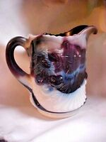 L.G. Wright Purple Slag Cherry Pattern Pitcher Original  Made in USA