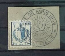 France stamp on piece postmarked 1946