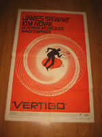 Vertigo Alfred Hitchcock Original 1958 One-Sheet Movie Poster
