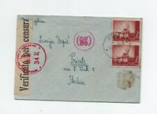 CROATIA NDH 15/2/1943 CENSOR COVER FROM SENJ TO TRIESTE