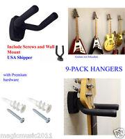 (9) Guitar Hangers Hook Holder Wall Mount Display Instrument  GRAK1-Q9