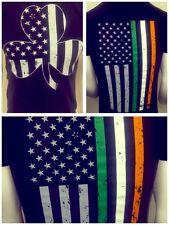 USA flag shamrock Irish Flag t shirt new