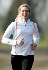 Women's Ladies Running Long Sleeved Top 1/4 Zip Jogging, Gym, Training, Fitness