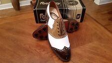 VINTAGE Footjoy Classics Original Mens Golf Shoes 52266 NEW Wh/Tan/Brn 11B