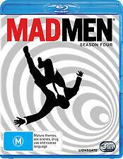 MAD MEN SEASON FOUR 4 - BRAND NEW & SEALED BLU RAY, 3-DISC SET (TV DRAMA SERIES)