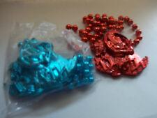 Thoth Blue & Orange Medallion Mardi Gras Beads (2)