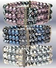 Bracciali di bigiotteria perle di vetro