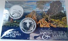 Australien WMF 2 x 1 Dollar 2011 Kookaburra Koala 2000 Blister 999 Silber 2 Unze