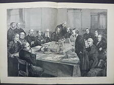 Illustrated London News Double-Page S8#08 Feb 1888 Foreign Cabinet Council