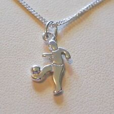 "Ankle Bracelet - 9"" Sterling Silver Soccer Player"