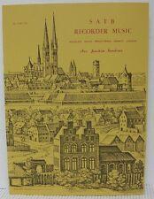 SATB RECORDER MUSIC by HASSLER, ISAAK, PRAETORIUS etc Sheet Music Book Classical