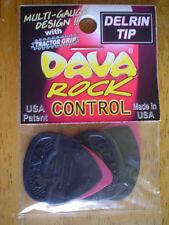 Guitar Picks - Dava Rock Control Delrin Tip - 6 pick pack