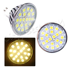 10 x MR16 High Power Bulb 20-SMD 5050 LED Warm White 12V Lens Glass Gorgeous