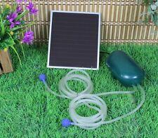 Solar Power Oxygen Sauerstoffpumpe Teichbelüfter Sauerstoff für Tag und Nacht !!