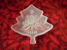 "Mikasa 5 1/4"" Glass Christmas Tree Sweets Candy Dish New Without Box"